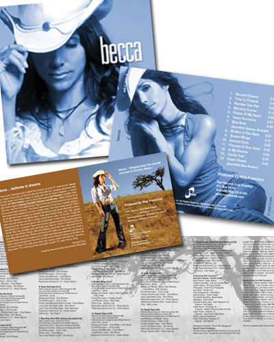 becca CD packaging